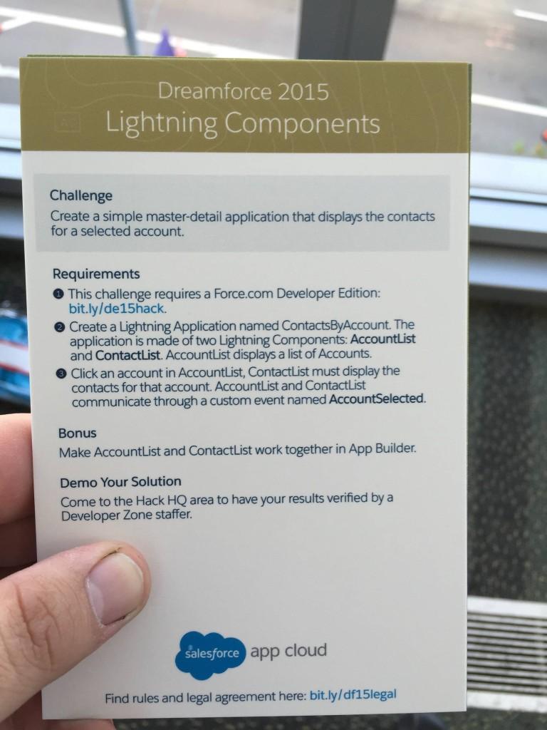 Dreamforce 2015 Minihack - Lightning Components